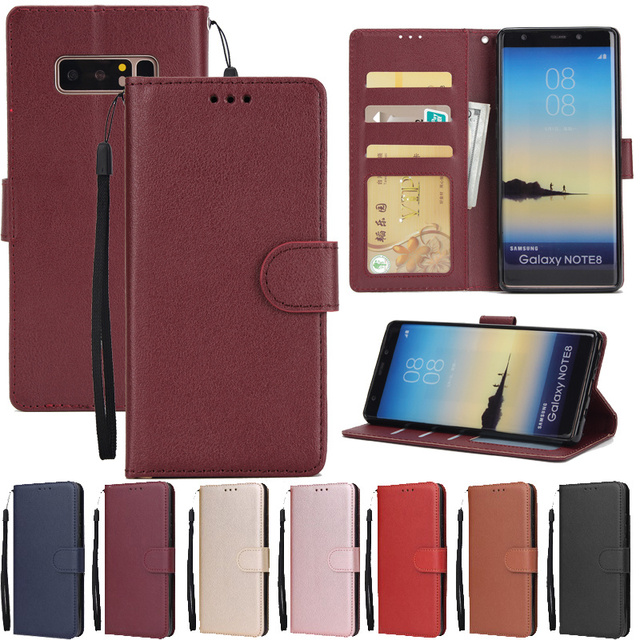 Leather Case For Samsung Galaxy S21 S20 S10 S9 S8 Plus/Ultra/Lite S7 S6 Edge S5 S20FE S10E/Plus Wallet Case For Note 20/10/9/8 1