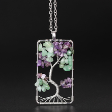 Tree Shape Bohemian Crystal Pendant Necklaces For Women Fashion Golden Silver Geometric Charm Chains Necklace Jewelry Wholesale