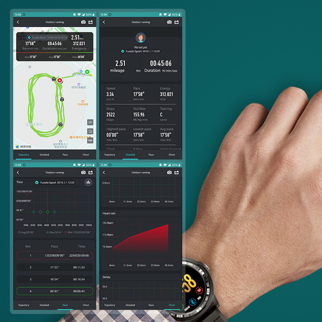 Silicone Smart Watch With GPS