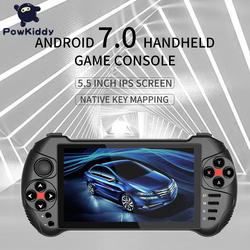 Powkiddy X15 Andriod وحدة تحكم بجهاز لعب محمول 5.5 بوصة 1280*720 شاشة MTK8163 رباعية النواة 2 جرام RAM 32 جرام ROM فيديو يده لعبة لاعب