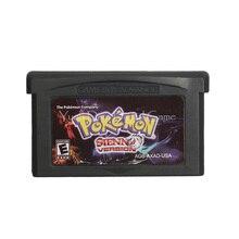 For Nintendo GBA Video Game Cartridge Console Card Poke Series Sienna English Language US Version