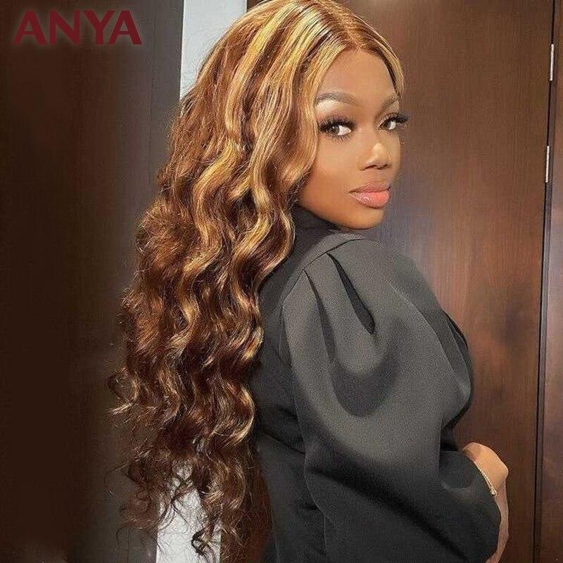 Anya peruca #33 13x4 peruca dianteira do
