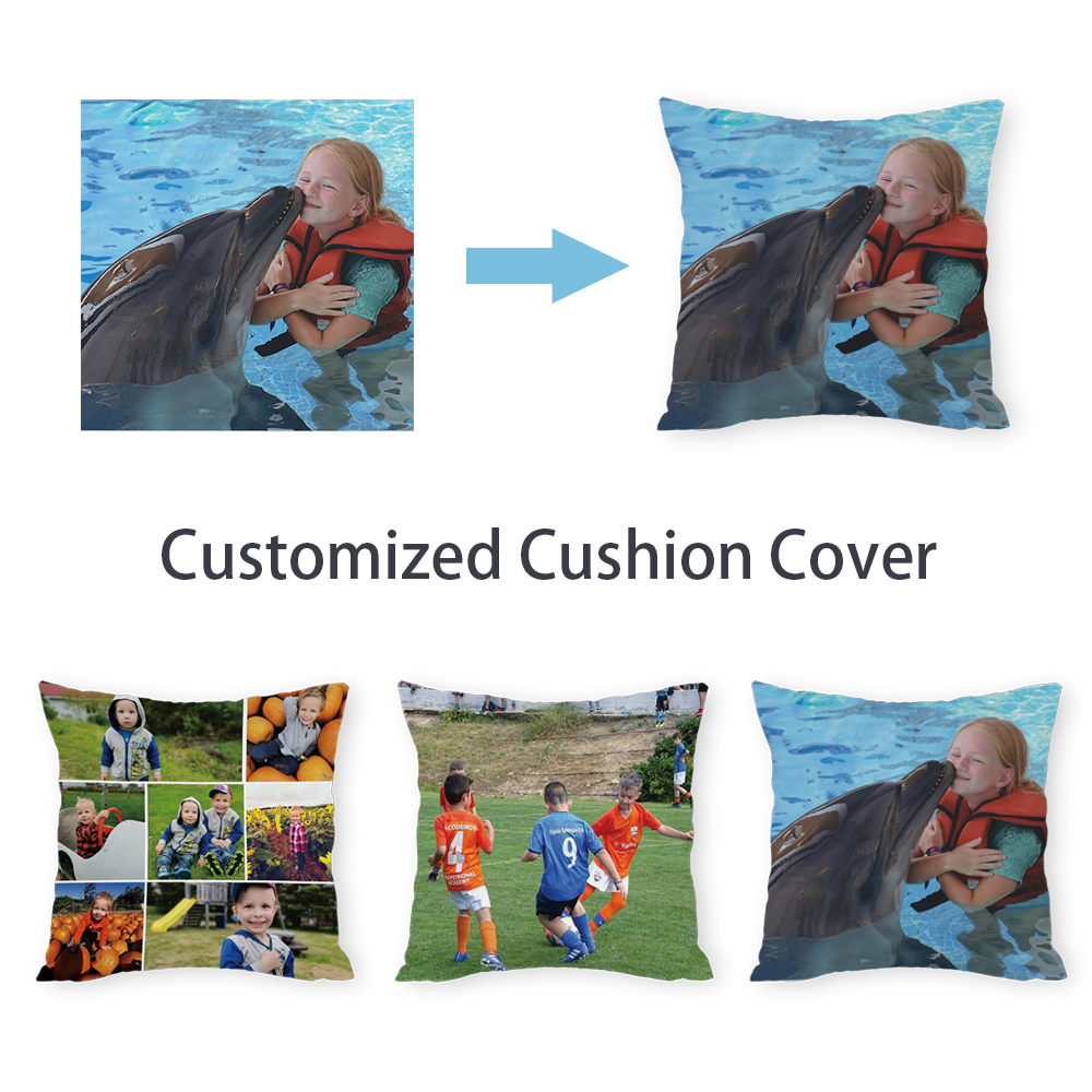 Silstar Tex Customized Photo Square Cushion Cover Peach Skin Pillow Case For Decorative Home Seat Chair Car Drop Shipping