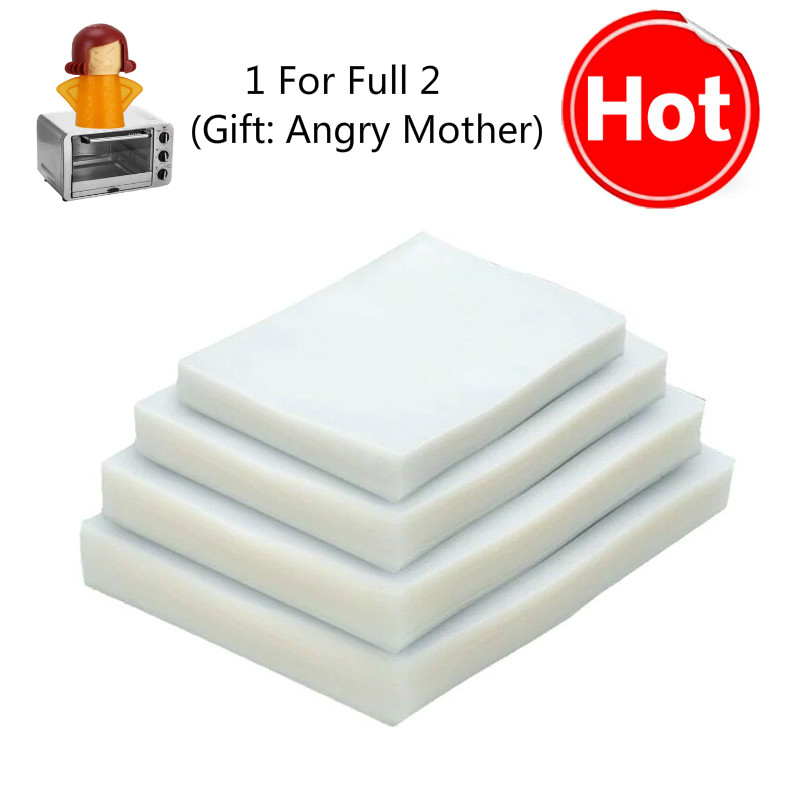 100/lot Vacuum Bags For Vacuum Sealer Food Storage Film Vacuum Seal Bags  Kitchen Appliance Sous Vide Packing Bag