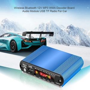 Image 5 - Mini araba USB dijital LED ses amplifikatörü amplifikatör MP3 dekoder destek TF kart FM radyo çalar uzaktan kumanda ile