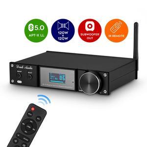 Nobsound estéreo de alta fidelidade bluetooth 5.0 amplificador potência subwoofer áudio amp usb/opt/coax 240 w suporta APTX-LL lossless transmissão