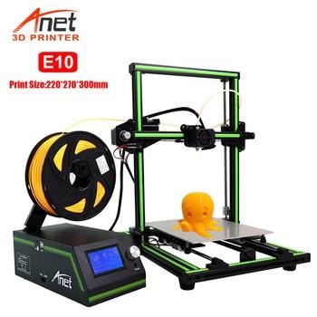 Anet Eagel Serial E10 3D принтер алюминиевая рама Высокая точность Reprap Prusa i3 большой размер DIY 3D принтер набор Макс 220*270*300 мм