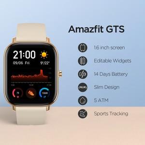 Image 3 - Globale Version Amazfit GTS Smart Uhr 5ATM Wasserdichte Smartwatch Lange Batterie GPS Musik Control Leder Silicon Strap