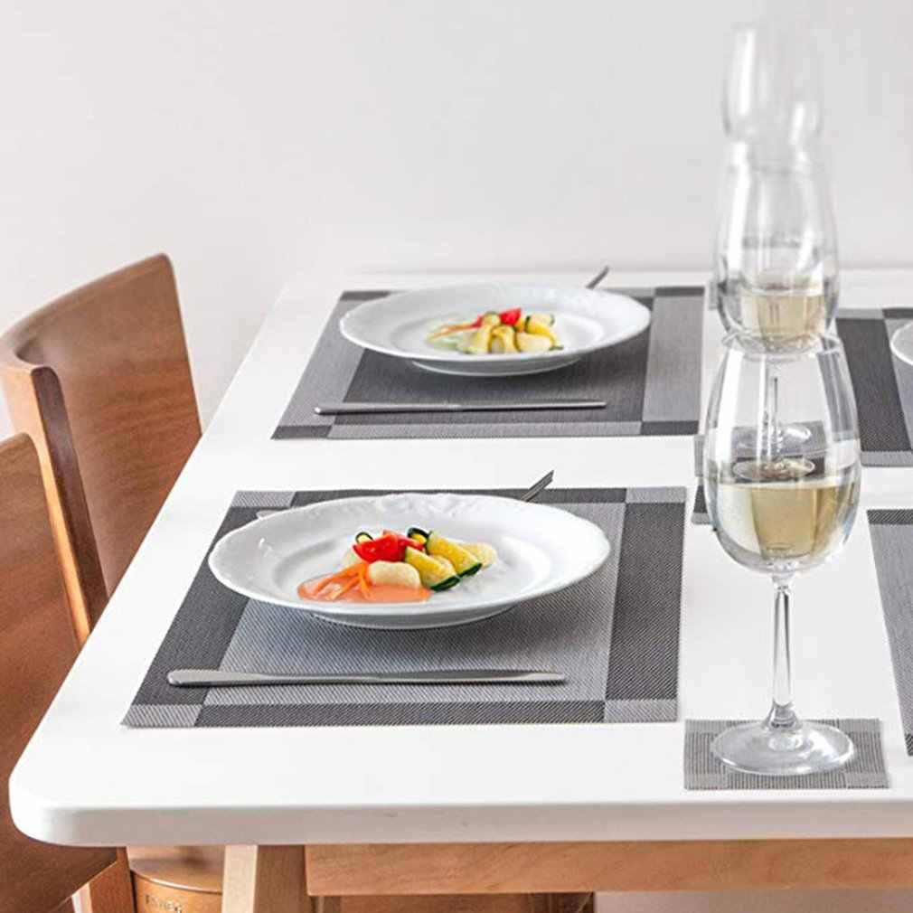 Restaurante ocidental placemat potholder coaster mesa esteira tigela posavasos de mantel com aislamiento de restaurante occidental
