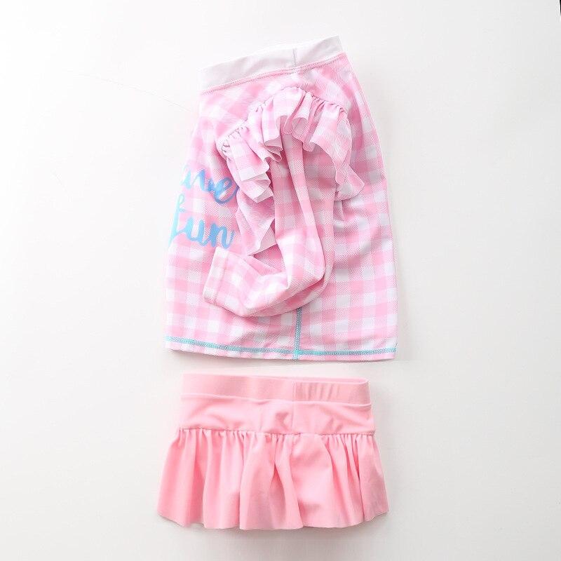 KID'S Swimwear Girls Split Type Flash Long Sleeve Swimwear Children Infant Baby Princess South Korea Skirt Tour Bathing Suit