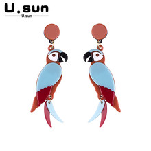 Classic Earrings Resin Acrylic Vintage Elegant Big Long Dangle Drop Fashion Animal Jewelry For Women Girls Kid Trendy