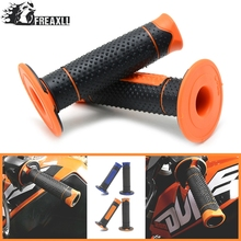 With 22mm 7/8 Motorcycle Accessories Orange Rubber HandleBar grips FOR 125 200 250 525 EXC SixDays 450 350 EXC-F