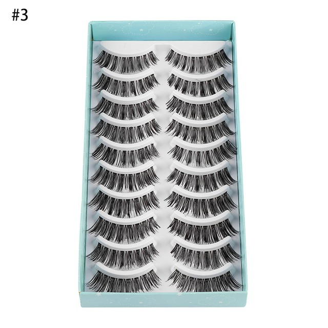 10Pairs Natural False Eyelashes Fake Lashes Wispy Thick Long Crisscross Lashes Extension Handmade Eyelash Charming Eyes Makeup 5