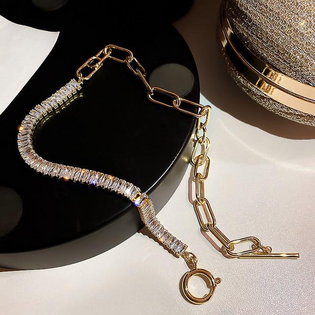 Crystal Choker Necklaces Geometric Statement Jewelry  5