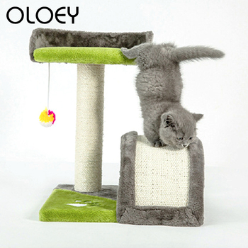 Domestic Delivery Cat Climbing Frame Jumping with Ladder Toy Kitten Wood Climbing Tree Protecting Furniture Scratching Post