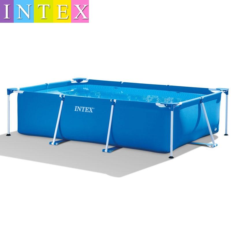 260*160*65CM INTEX Rectangular Tube Rack Pad Pool Super Large Bracket Children's Family Thickening Swimming Pool 28271