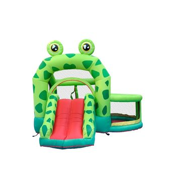 Household Inflatable Bouncers Costco Jumping Children Moonwalk Castle Frog Jumper For Kids House Park Personal Party Play Fun image