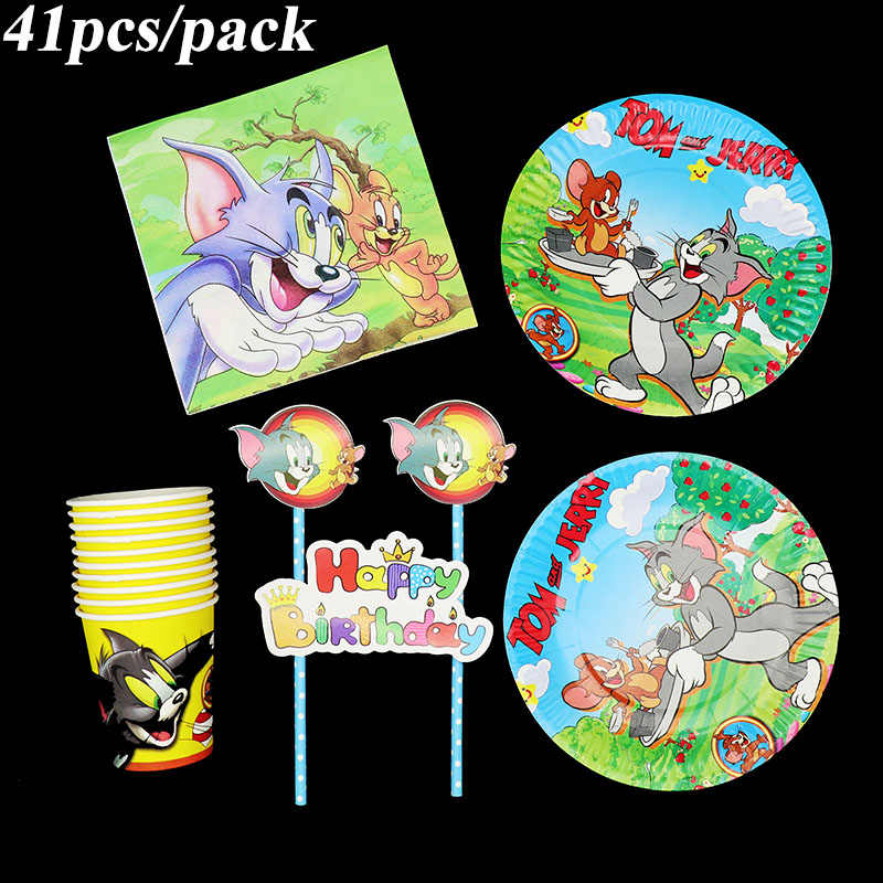 14 Pcs Lot Tom And Jerry Birthday Party Invitations Girl