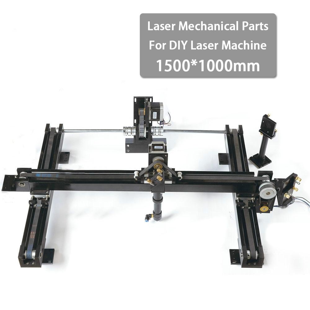 DIY 1510 Co2 Laser Spare Parts Set Laser Engraving Cutting Machine Mechanical Kit 1500*1000mm Size