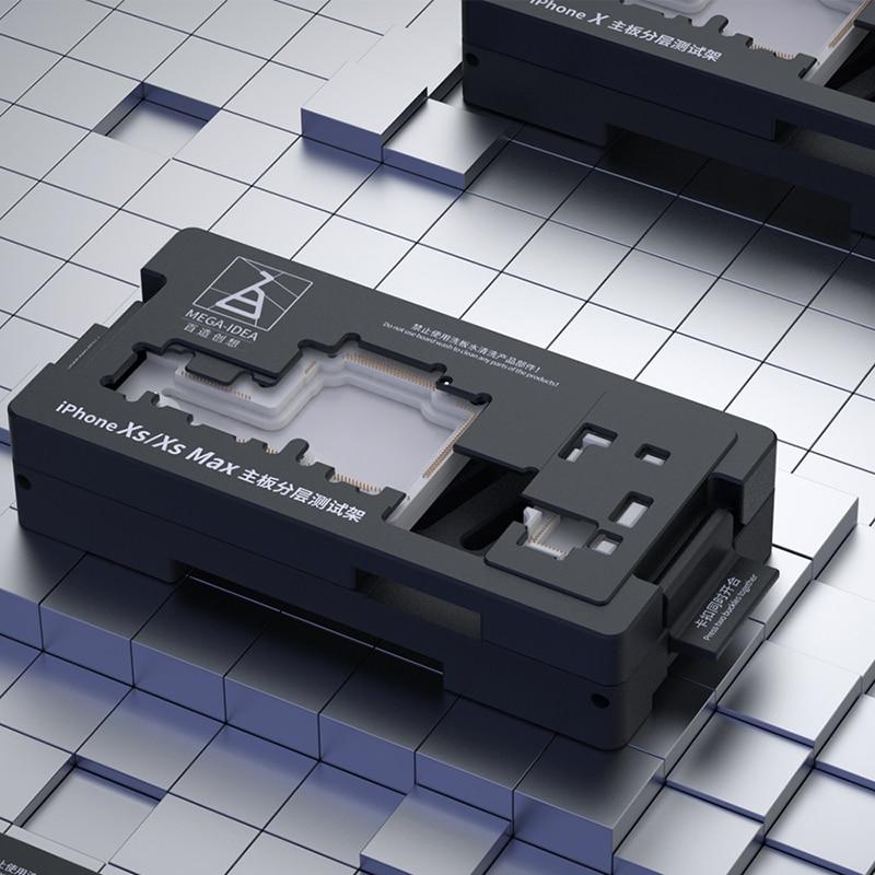 Купить с кэшбэком QIANLI MEGA-IDEA Motherboard layered test stand pure copper probe X XS XS MAX Apple mobile phone motherboard repair test fixture