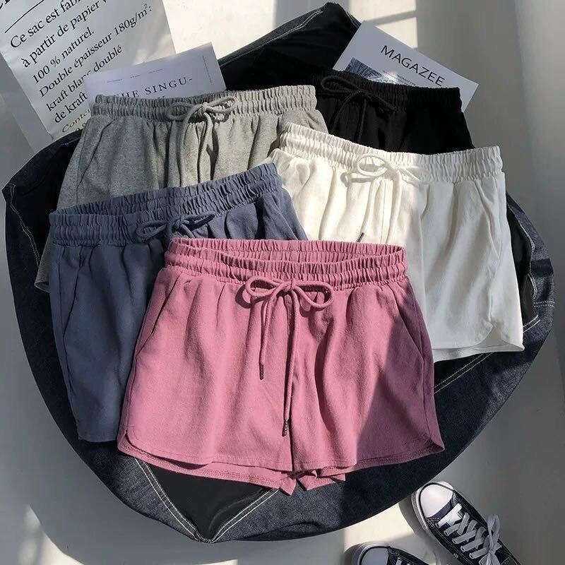 2020 Fashion Women Shorts Stretch Waist Stretch High Waist Women Tight Cotton Track Shorts Leisure