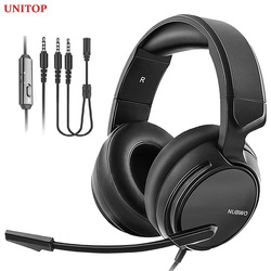 UNITOP NUBWO N12 3.5mm Gaming Headset Music Headphones Stereo Over Ear Wired Earphones With Microphone For PC PS4 Skype Xbox One