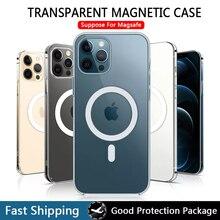 Magsafing-Funda de cristal duro para iPhone, carcasa magnética Mini para iPhone 12, 13 Pro Max, 13 Pro Max, 11 Pro Max, XR, Xs Max
