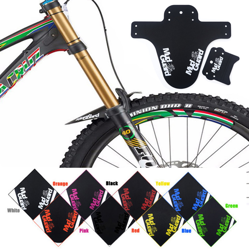 2019 New Bicycle Fenders Plastic Colorful Front /rear Bike Mudguard Mtb Bike Wings Mud Guard Cycling Accessories for Bicycle(China)