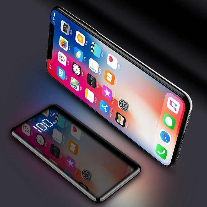 جديد سامسونج 30000mah قوة البنك المحمولة شاحن خارجي باور بنك لشحن البطاريات Powerbank LCD مرآة الشاشة الكاملة للهاتف المحمول
