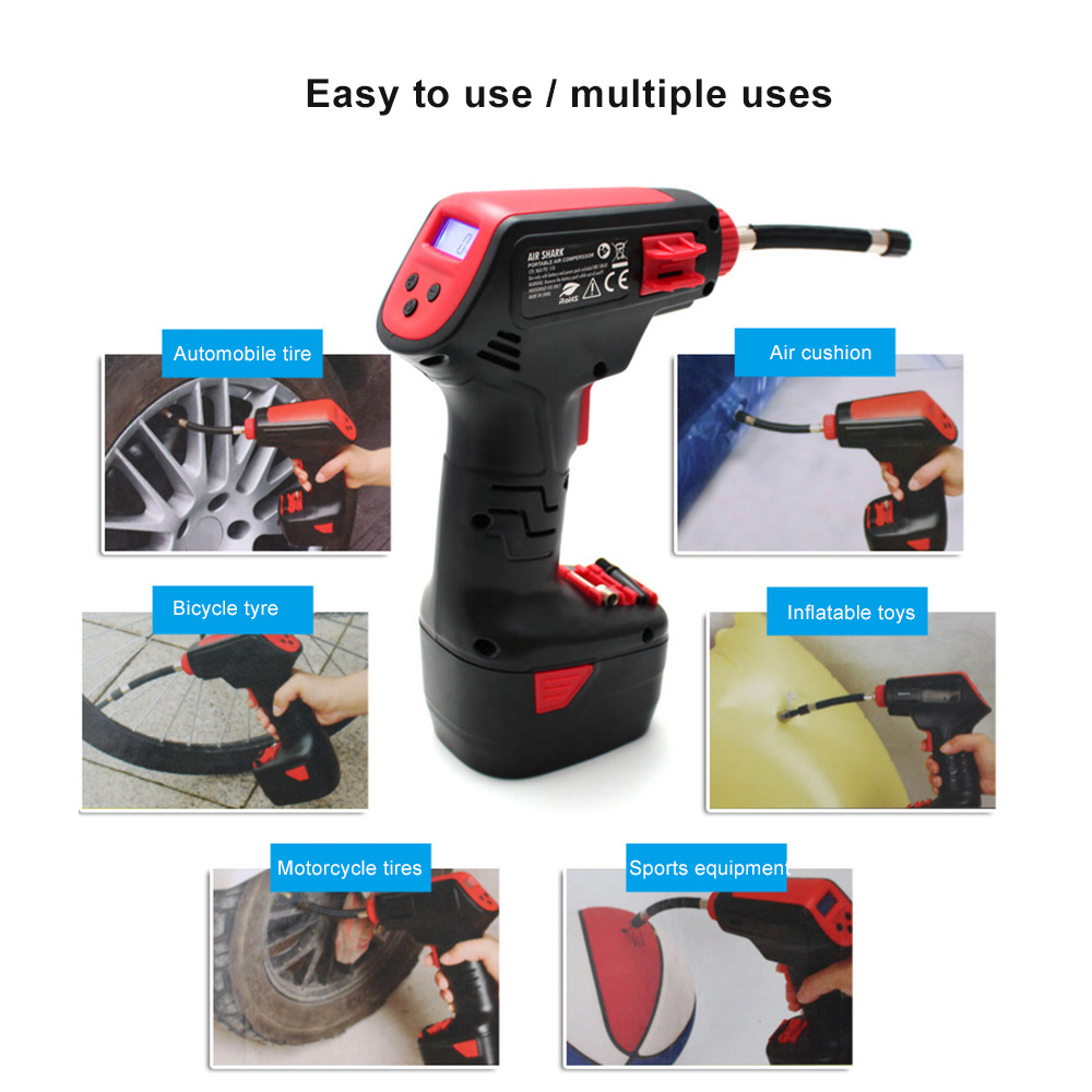Image 5 - Pro Air Compressor Draadloze Draagbare Compressor Elektrische Inflator Portable Hand Held Pomp met Digitale LCD Auto Styling-in Inflatable Pump from Automobiles & Motorcycles