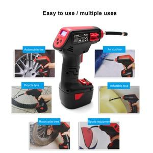 Image 5 - Pro Air Compressor Draadloze Draagbare Compressor Elektrische Inflator Portable Hand Held Pomp met Digitale LCD Auto Styling