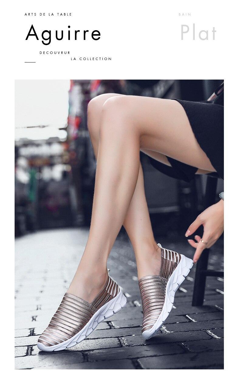 Women Flats Shoes Woman Loafers Slip-ons Platform Ballet Sneakers (7)