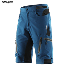ARSUXEO Cycling Shorts Men MTB Bicycle Bike Short with Underwear downhill Water Resistant Loose fit Quick dry 1202