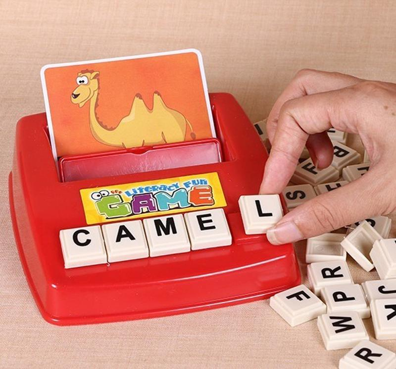 Kids Educational Words Cards Toys Learn English Word Game Montessori Word Machine Alphabet Puzzle Alphabet Letters Card Literacy