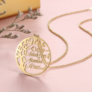Image 5 - Gepersonaliseerde Stamboom Ketting Voor Mama Custom Naam Charme Ketting Voor Vrouwen 925 Sterling Zilveren Fijne Sieraden (Lam Hub fong)