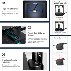 Image 4 - Anycubic מגה X מגה סדרת 300*300*305mm 3D מדפסת גדול הדפסת גודל Meanwell כוח אספקת Ultrabase 3d Impressora