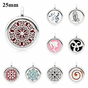 Feather 25mm Aromatherapy Locket Perfume Essential Diffuser Locket pendant As Gift (free chain & 5pcs pads)(China)