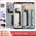Оригинальный ЖК-дисплей для Xiaomi Mi Max 1 2 3, ЖК-дисплей, сенсорный экран, дигитайзер в сборе, замена для Mi MAX1 MAX2 MAX3, ЖК-дисплей с рамкой