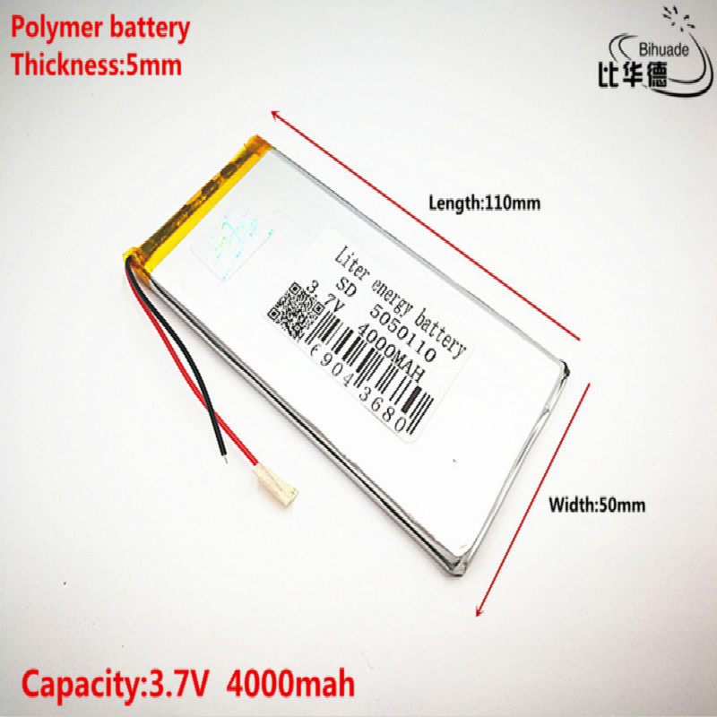 Good Qulity 3.7V,4000mAH 5050110 Polymer Lithium Ion / Li-ion Battery For Tablet Pc BANK,GPS,mp3,mp4