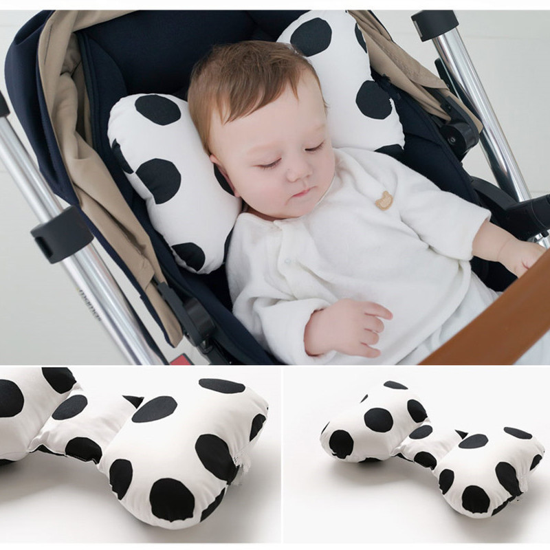 South Korea Infant Pillow CHILDREN'S Pillow Pure Cotton Bow Neck Support Pillow Baby Pillow Four Seasons Universal 3D Network