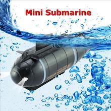 Мини радиоуправляемая подводная лодка с дистанционным управлением Дрон Pigboat моделирование с светодиодный светильник RC игрушка в подарок для детей