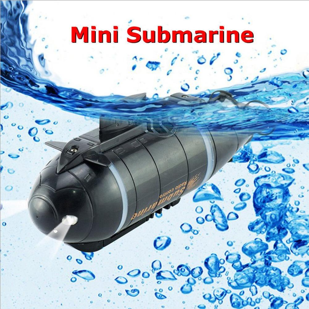 Mini RC Submarine Speed Boat Remote Control Drone Pigboat Simulation With LED Light RC Toy Gift Toy for Kids image