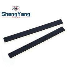 ShengYang – connecteur de PCB à une rangée, 2.54mm, 40 broches, 10 pièces