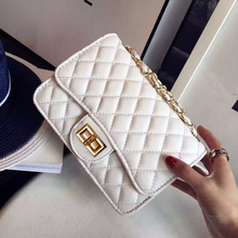 Women's Small Square PU Leather Bag with Chain and Mini-chain Guarantees The Quality of Hand-feeling Bag все цены