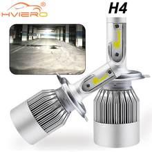 Phares de voiture C6 H4 Hi-Lo 72W, blanc, ampoule automatique IP65, faisceau haut et bas, phare Automobile, feu antibrouillard, clignotant