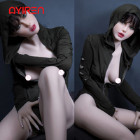 AYIREN 165cm Japanese Sex Doll Small Breast Realistic Silicone with Skeleton Sex Love Doll Oral Vagina Pussy Anal Adult Doll