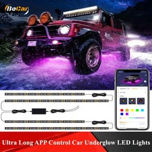IP 68 Waterproof App Control Sync to Music DC 12V Car Underglow LED Lights Exterior Car Atmosphere Lights with Ultra Long Strips