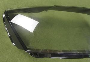 Image 3 - Audi için Q5 2010 2011 2012 far şeffaf kapak abajur lamba gölge lamba cam far kabuk Lens camı