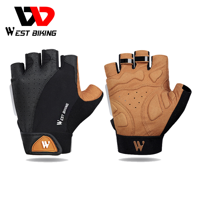 WEST BIKING Cycling Gloves Summer Sports Anti-sweat Bicycle Gloves For Men Women Anti-slip Breathable Half Finger Bike Gloves