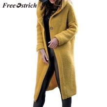 FREE OSTRICH Plus size women long-sleeved fashion cardigan shirt sweater coat personality warm autumn and winter casual sweater(China)